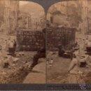 Fotografía antigua: FOTO ESTEREOCOPICA DEL TERREMOTO DE 1908 DE BAGNARA (MESSINA-ITALIA). 18 X 8 CM.. Lote 40943886