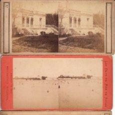 Fotografía antigua: 4 FOTOS ESTEREOCOPICAS DE FRANCIA (ROYAN): 'LA COUR DU CHAI.LA TOUR DE CARDOUAN.CASINO.BAIGNEURS'.. Lote 40957884
