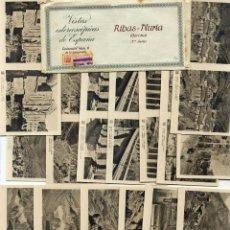 Fotografía antigua: RIBAS-NURIA 2º SERIE 15 VISTAS ESTEREOSCOPICAS PAPEL. Lote 41191260