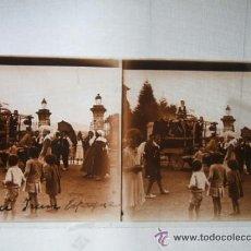 Fotografía antigua: IRUN GUIPUZCOA AÑOS 20 2 PLACAS DE CRISTAL ESTEREOSCOPICAS FIESTAS DE IRUN. Lote 41250399