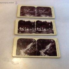Fotografía antigua: TRES FOTOGRAFIAS ESTEREOSCOPICAS FECHADAS 1899. . Lote 40167722
