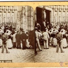 Old photograph - FOTOGRAFIA ESTEREOSCÓPICA (17 x 9 cm.) DE BARCELONA.PROCESIÓN DE CORPUS. SOC. ESTEREOCOPICA ESPAÑOLA - 41370087