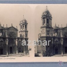 Fotografía antigua: ANTIGUA FOTO ESTEREOSCOPICA DE CADIZ - LA CATEDRAL. Lote 41941841