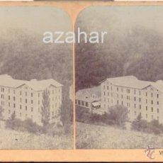 Fotografía antigua: SANT HILARI SACALM, GIRONA, 1897, HOTEL MARTIN. Lote 42225661