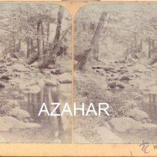Fotografía antigua: SANT HILARI SACALM, GIRONA, 1897, TORRENTE MANSOLÍ, RARISIMA. Lote 42360701