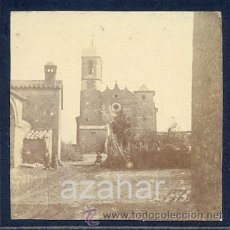 Fotografía antigua: RIUMORS,GIRONA, SIGLO XIX, ENTRADA AL PUEBLO DESDE LA CARRETERA DE SIURANA, RARISIMA. Lote 42511487