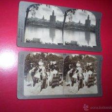 Fotografía antigua: EXCEPCIONAL LOTE 19 VISTAS ESTEREOSCOPICAS DE SEVILLA. VARIADOS EDITORES Y PARTICULARES. Lote 29386557