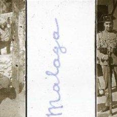 Fotografía antigua: MÁLAGA. LOTE 4 ESTEREOSCÓPICAS DE CRISTAL. GUARDIA CIVIL EN LA VENTA SANTA ISABEL Y VISTA GENERAL. Lote 42559047