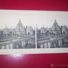 Fotografía antigua: TARRAGONA - MUY RARA VISTA ESTEREOSCOPICA CEMENTERIO EDITOR CHECO 1906. Lote 42566893