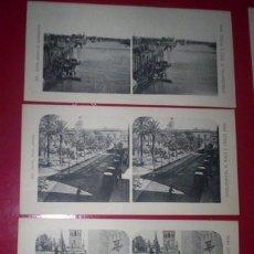 Fotografía antigua: LOTE 7 VISTAS SEVILLA- MUY RARAS VISTAS ESTEREOSCOPICA EDITOR CHECO 1906. Lote 42566946
