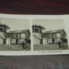 Fotografía antigua: ANTIGUA FOTOGRAFÍA ESTEREOSCÓPICA VIENA. SCHAUSTELLUNG IM PRATER. 9X18CM. COL. 26.1905. Lote 42931205