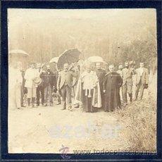 Fotografía antigua: VILADRAU, GIRONA, 1897, BENDICION DE UNA CARRETERA NUEVA POR EL OBISPO DE VIC, RARISIMA. Lote 43139377