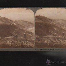 Fotografía antigua: FOTOGRAFIA ESTEREOSCOPICA. 10844. CARRETERA DEL MAR MUERTO EN JUDEA, PALESTINA.. Lote 43175376