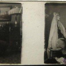 Fotografía antigua: LOTE DE 14 FOTOGRAFÍAS ERÓTICAS EN CRISTAL ESTEREOSCÓPICAS 1900. Lote 43189274