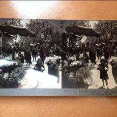 Fotografía antigua: ESTEREOSCÓPICA KEYSTON VIEX COMPANY.-RAMBLAS BARCELONA. Lote 43479198