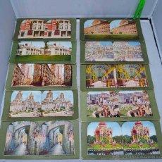 Fotografía antigua: LOTE 10 FOTOS ESTEREOSCOPICAS ORIGINALES, 1898..MONUMENTOS DEL MUNDO, ..CARTON 18X9 CM..BUEN ESTADO. Lote 43532763