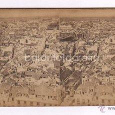 Fotografía antigua: SEVILLA, PANORAMA DESDE LA TORRE DE DE SAN MARTÍN, 1860'S. ALBÚMINA SOBRE CARTON 18X8,5CM.. Lote 43618910