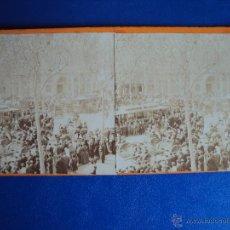Fotografía antigua - (ES-602)FOTOGRAFIA ESTEREOSCOPICA DE BARCELONA-TRANVIAS - 43661130