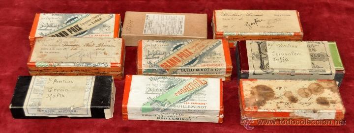 LOTE DE 9 CAJAS CON CRISTALES ESTEREOSCÓPICOS. ALREDEDOR DE 200 CRISTALES (Fotografía Antigua - Estereoscópicas)