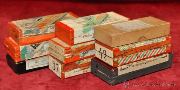 Fotografía antigua: LOTE DE 9 CAJAS CON CRISTALES ESTEREOSCÓPICOS. ALREDEDOR DE 200 CRISTALES - Foto 2 - 44052478