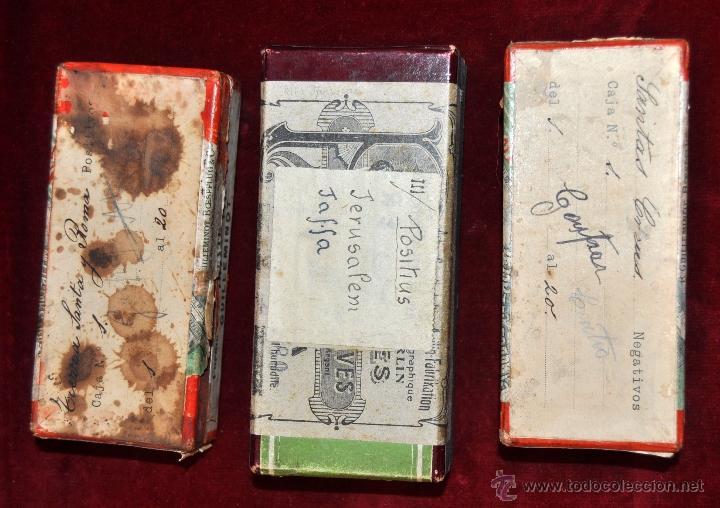 Fotografía antigua: LOTE DE 9 CAJAS CON CRISTALES ESTEREOSCÓPICOS. ALREDEDOR DE 200 CRISTALES - Foto 8 - 44052478