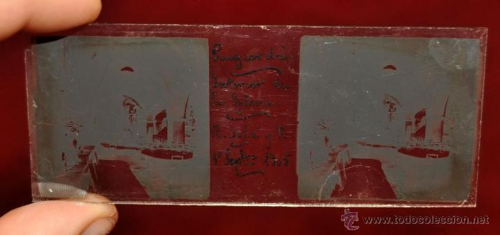 Fotografía antigua: LOTE DE 9 CAJAS CON CRISTALES ESTEREOSCÓPICOS. ALREDEDOR DE 200 CRISTALES - Foto 14 - 44052478
