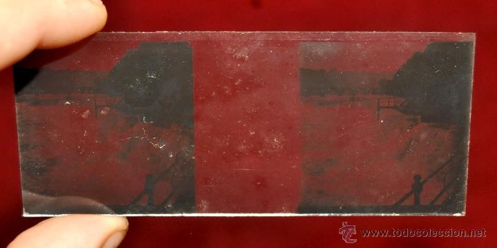 Fotografía antigua: LOTE DE 9 CAJAS CON CRISTALES ESTEREOSCÓPICOS. ALREDEDOR DE 200 CRISTALES - Foto 17 - 44052478