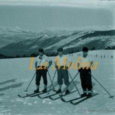 Fotografía antigua: LA MOLINA - PIRINEOS - 1920-1930 - 4 NEGATIVOS DE VIDRIO . Lote 44203842