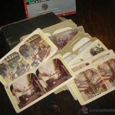 Fotografía antigua: ANTIGUAS FOTOGRAFÍAS ESTEREOSCÓPICAS LOTE X 75 CAJA THE LITTLE CHRONICLE USA. Lote 44380493