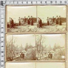 Fotografía antigua: LOTE 6 FOTOGRAFIAS ESTEREOSCOPICAS DE MEDIO FORMATO.. Lote 44942037