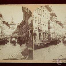 Old photograph - Fotografía estereoscópica editada por la casa americana Underwood & Underwood. Calle de Bern (Suiza) - 45077547