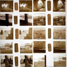 Fotografía antigua: LAS PALMAS DE GRAN CANARIA, ISLAS CANARIAS, 1920'S. LOTE DE 10 CRISTALES POSITIVOS ESTEREO 10,4X4,3C. Lote 45135897