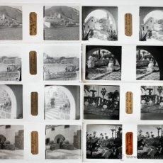 Fotografía antigua: LAS PALMAS DE GRAN CANARIA, ISLAS CANARIAS, 1920'S. LOTE DE 10 CRISTALES POSITIVOS ESTEREO 10,4X4,3C. Lote 45135937