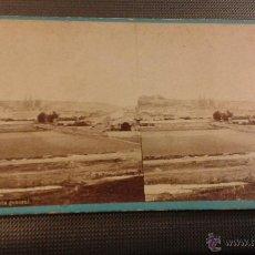 Fotografía antigua: ESTEREOSCÓPICA ALBÚMINA BURGOS 102 VISTA GENERAL. J LAURENT FOTÓGRAFO. MADRID.. Lote 45178674