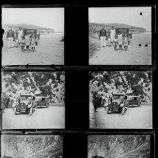 Fotografía antigua: CATALUNYA, RUTA EN COCHE 1915'. LOTE DE 7 CRISTALES NEGATIVOS 10,4X4,3 CM.. Lote 45305925
