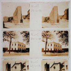 Fotografía antigua: RUBÍ, VALLÈS OCCIDENTAL. ABRIL 1919. 3 CRISTALES POSITIVOS 10,4X4,3 CM.. Lote 45371469