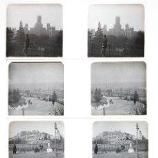 Fotografía antigua: MADRID, 1915'S. 5 CRISTALES NEGATIVOS ESTEREO 10,4X4,3CM.. Lote 45417397