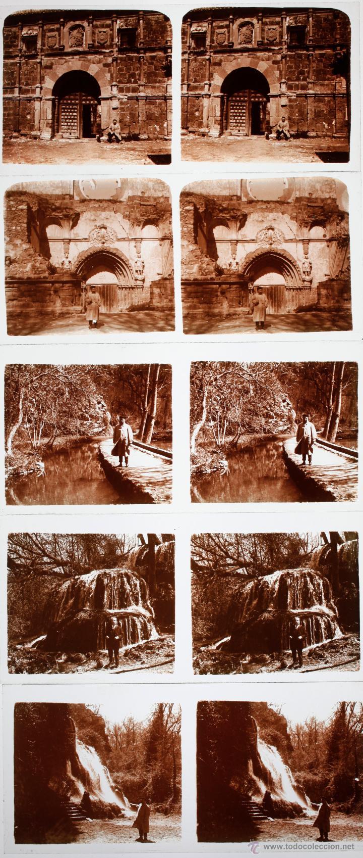 MONASTERIO DE PIEDRA, ZARGOZA, 1915'S. 14 CRISTALES POSITIVOS ESTEREO 6X13 CM. (Fotografía Antigua - Estereoscópicas)