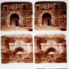 Fotografía antigua: MONASTERIO DE PIEDRA, ZARGOZA, 1915'S. 14 CRISTALES POSITIVOS ESTEREO 6X13 CM.. Lote 45466110