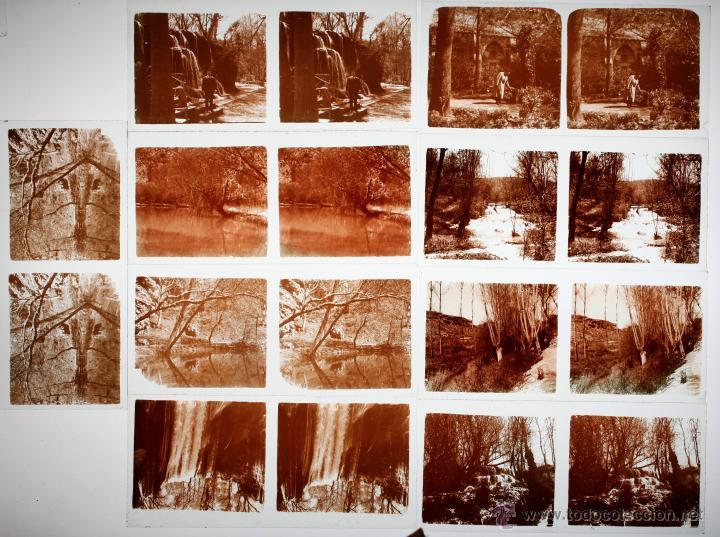Fotografía antigua: Monasterio de piedra, Zargoza, 1915s. 14 cristales positivos estereo 6x13 cm. - Foto 2 - 45466110