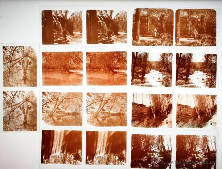 Fotografía antigua: Monasterio de piedra, Zargoza, 1915s. 14 cristales positivos estereo 6x13 cm. - Foto 3 - 45466110