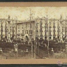 Fotografía antigua: BARCELONA - PLAZA DEL DUQUE DE MEDINACELI - FOTO ESTEREOSCOPICA - MED- 8,5 X 16,5 CM. - (F-867). Lote 46138583