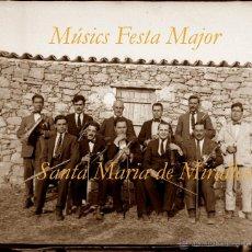 Fotografía antigua: FESTA MAJOR - ANOIA - SANTA MARIA DE MIRALLES - 1922 - MÚSICS - 2 NEGATIUS DE VIDRE. Lote 46495425