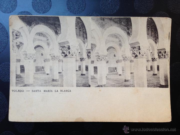 POSTAL. TOLEDO. SANTA MARÍA LA BLANCA. REVERSO SIN DIVIDIR (Fotografía Antigua - Estereoscópicas)