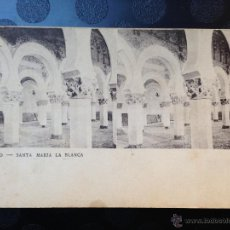 Fotografía antigua: POSTAL. TOLEDO. SANTA MARÍA LA BLANCA. REVERSO SIN DIVIDIR. Lote 46613858