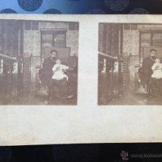 Fotografía antigua: POSTAL. TOLEDO?. PADRE E HIJO. 1907. Lote 46613956
