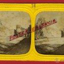 Fotografía antigua: FOTOGRAFIA ESTEREOSCOPICA, FOTO EGIPTO , PIRAMIDE CAYO SEXTO Y PUERTA , ILUMINADA ,ORIGINAL , A26. Lote 46626661
