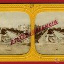Fotografía antigua: FOTOGRAFIA ESTEREOSCOPICA, FOTO EGIPTO , UN BOULEVARD , ILUMINADA ,ORIGINAL , A29. Lote 46626686