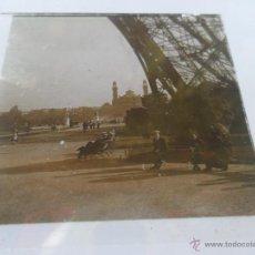 Fotografía antigua: FOTOGRAFIA ESTEREOSCOPÌCAS ESTEREO EN CRISTAL PRINCIPIOS SIGLO XX TORRE EIFFEL PARIS. Lote 47002462