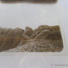 Fotografía antigua: FOTOGRAFIA ESTEREOSCOPÌCAS ESTEREO EN CRISTAL PRINCIPIOS SIGLO XX VISTA DE MONTSERRAT. Lote 47002610